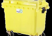 مخزن زباله مکانیزه 660 لیتری